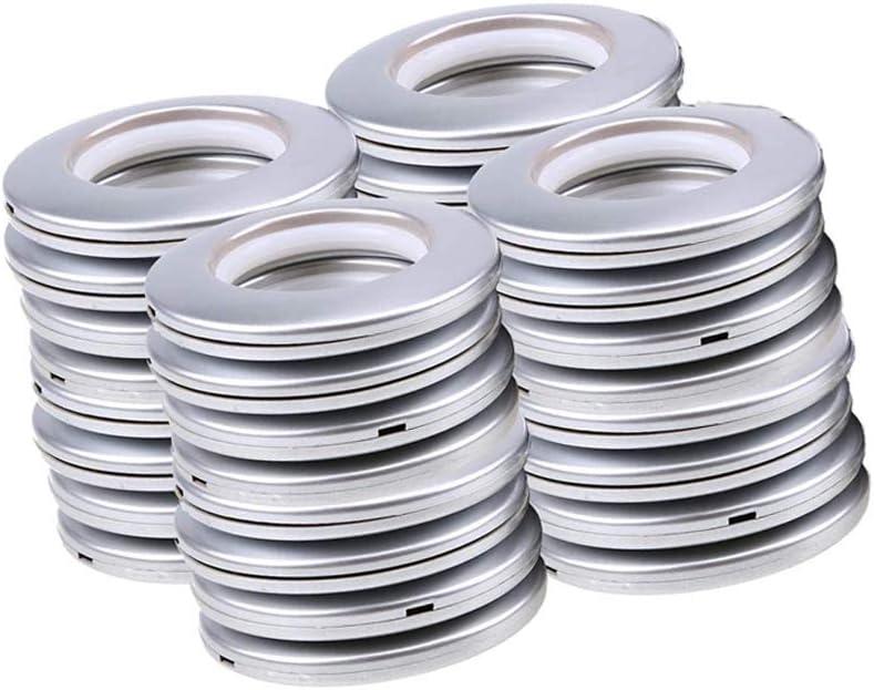"""CENGOOD 32 Pack Plastic Curtain Grommets Eyelet Ring Inner Diameter 1-9/16""""(4cm) Matte Silver"""
