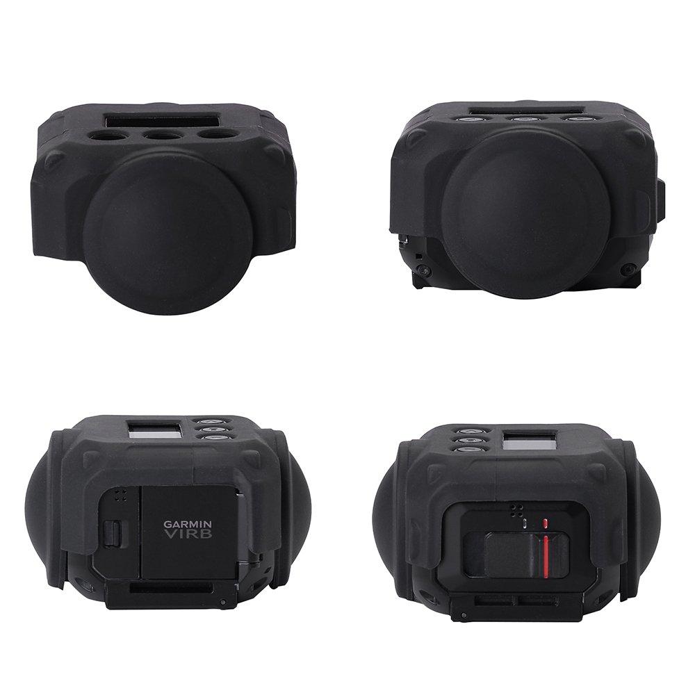 holaca protectora cubierta de lente para c/ámara Garmin Virb 360 carcasa de silicona para Garmin Virb 360/resistente impermeable c/ámara de 360/grados