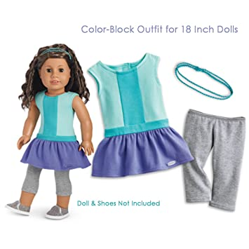 american girl color block dress for 18 inch dolls truly me 2017