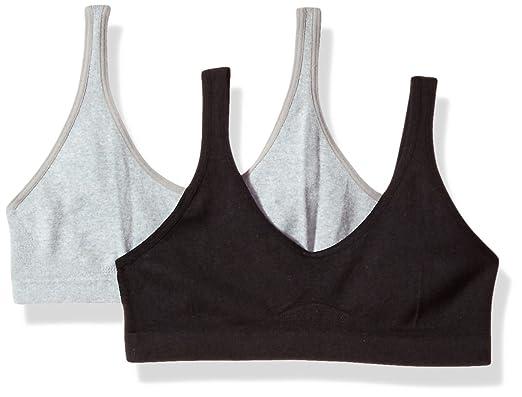 d2d42168d4 Hanes Girls  Big Seamless ComfortFlex Fit Cozy Pullover Bra 2-Pack ...