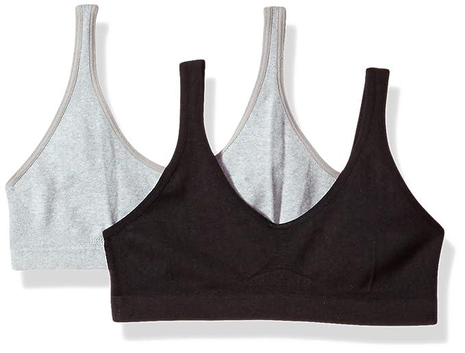 ccc2958eeff54 Hanes Girls  Seamless ComfortFlex Fit Cozy Pullover Bra 2-Pack Training