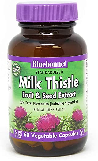 BlueBonnet Milk Thistle Fruit and Seed Extract Supplement, 60 Count