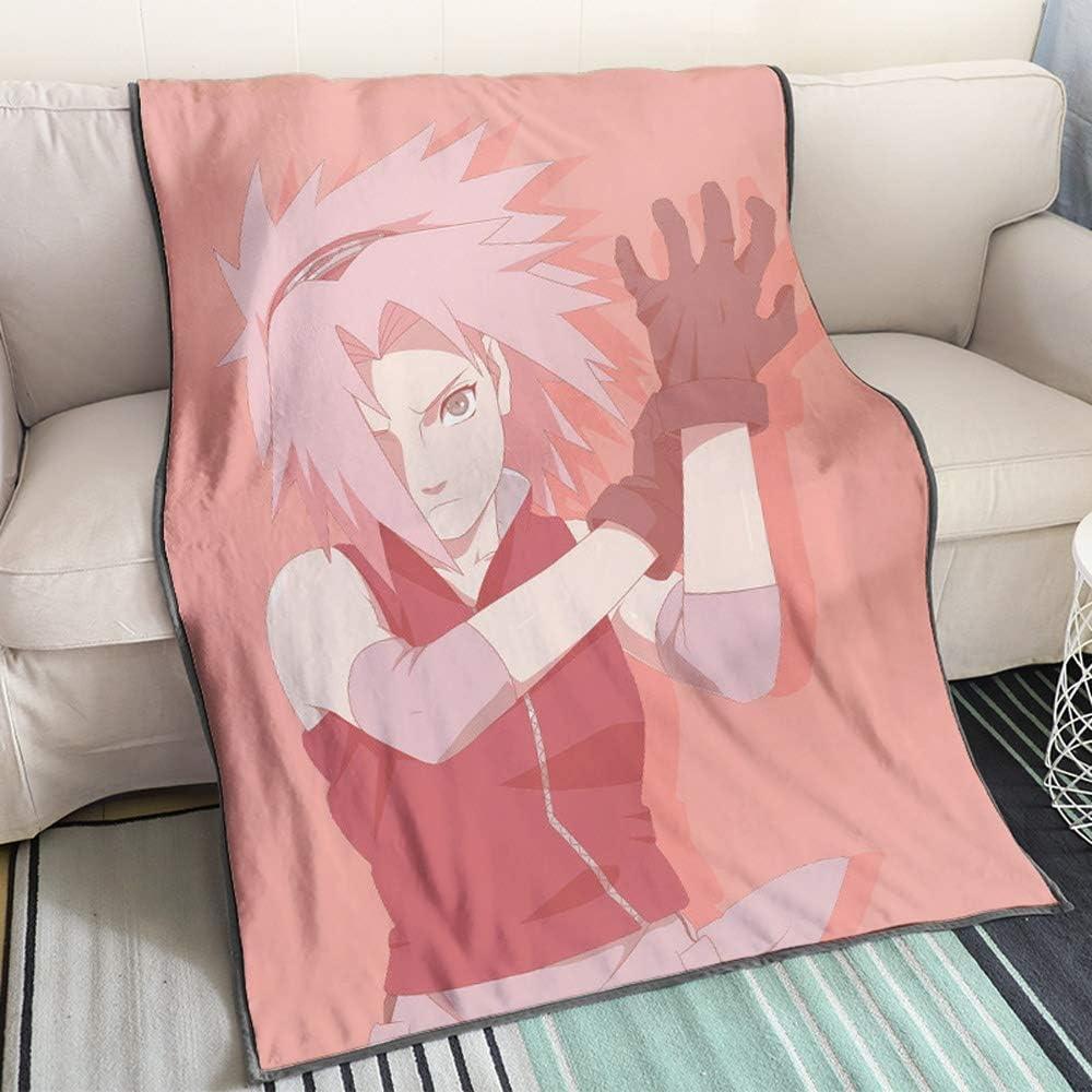 Amazon Com Kaiwenli Naruto Series Haruno Sakura Gloves Pink Background Anime Cartoon Blanket 3d Digital Printing Single Sided Pattern Soft Comfort Best Bedding Easy To Clean Warm Home Kitchen