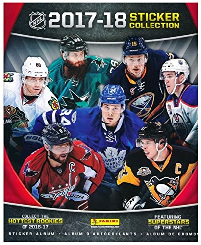 Nhl Collectibles (2017/18 Panini NHL Hockey HUGE 72 Page Stickers Collectors Album with TEN(10) Bonus Hockey Stickers ! Great Hockey Collectible to House all your NEW Panini NHL Stickers! Makes a Great Gift!)