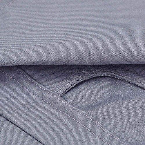 Moda Cavo Grau Waist Con Monocromo Donna Pantaloni Matita In Pantaloni Con Tasche Elastico Chic High Autunno Pants Casual 3 Cintura Vita Eleganti Elastica A 4 Primaverile Pantaloni Cute 6q0wHp