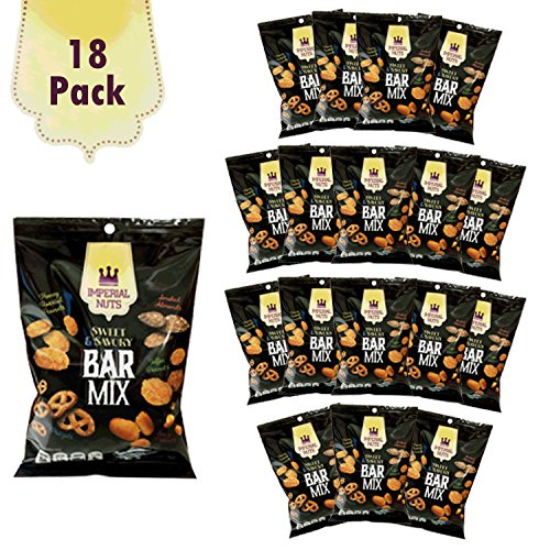 Imperial Mix - Imperial Nuts Snack Bags Bar Mix - Sweet & Savory (18 Pack x 4 oz = 4.5 lb) - Great Office or Grab & Go Snack High in Protein Kosher Certified