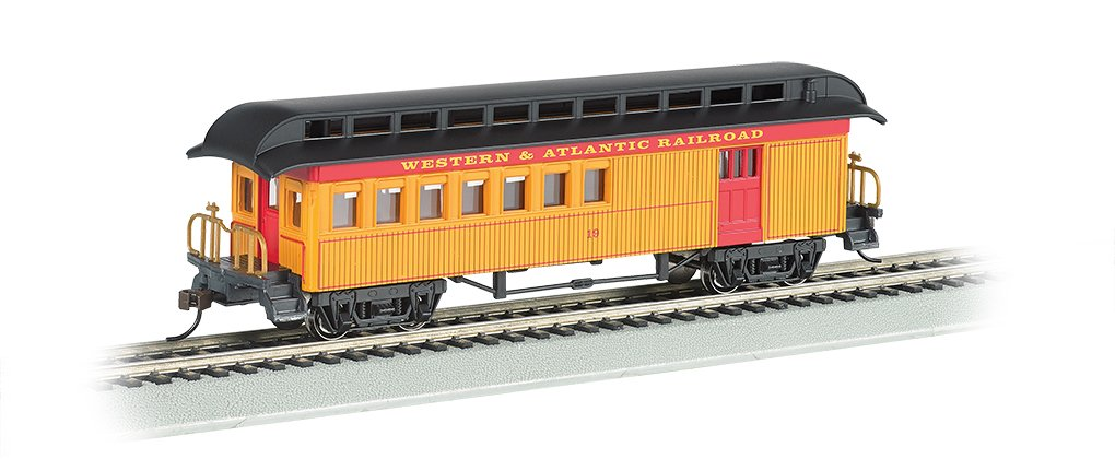 Bachmann Industries Combine Western & Atlantic Rr Ho Scale Old-Time Car with Round-End Clerestory Roof
