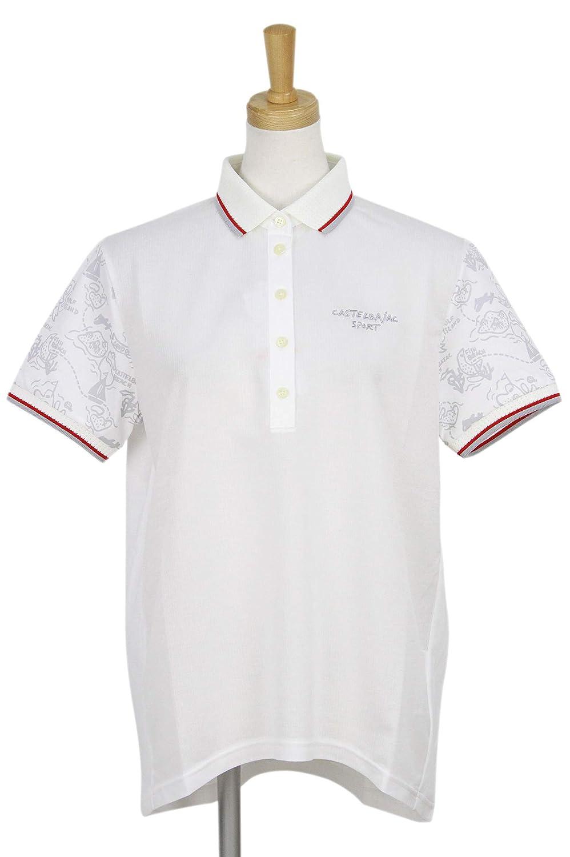 ポロシャツ レディース カステル バジャック スポーツ CASTELBAJAC SPORTS ゴルフウェア 24170-205 LL(44) ホワイト(01) B07SCP6BZR