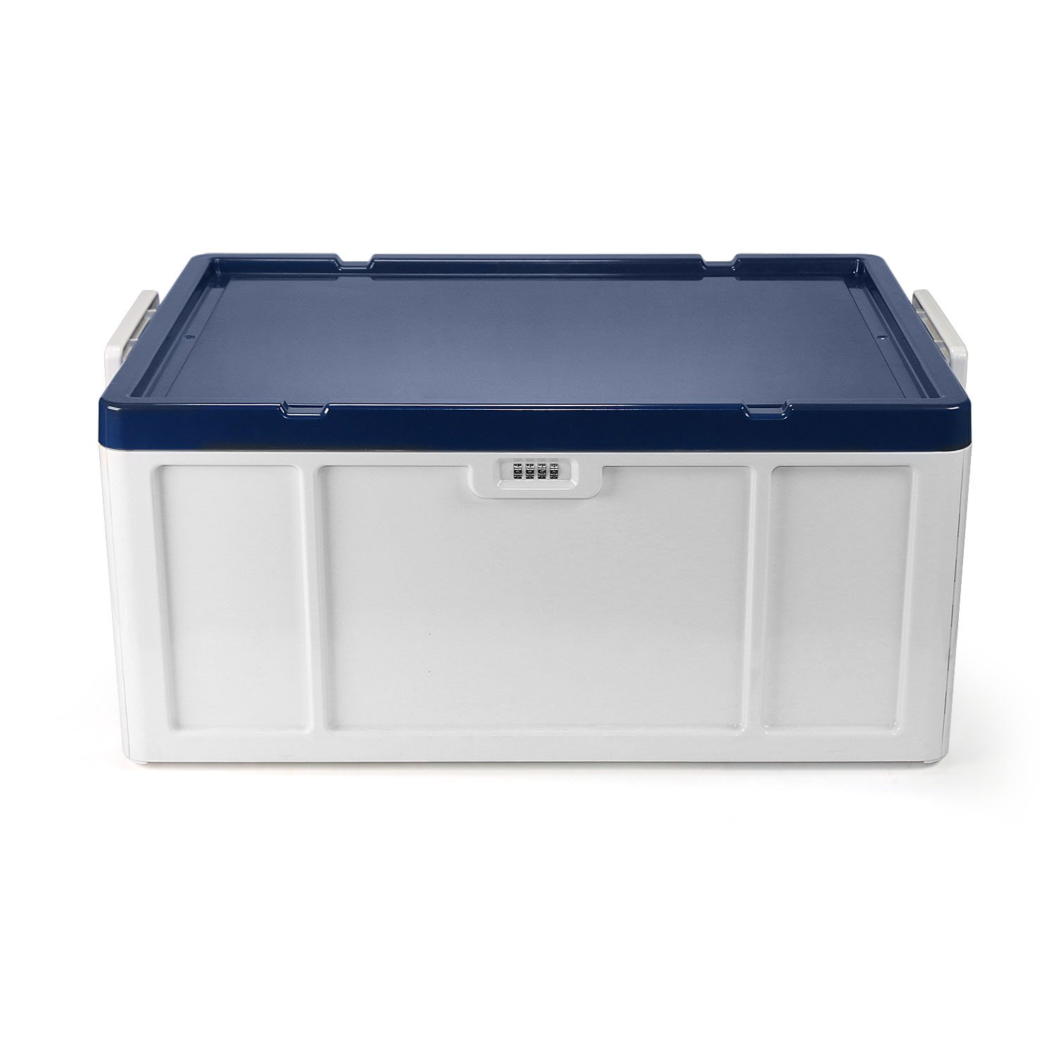 EVERTOP Extra Large Deck Box for Home, Office, Car, White with Code Lock (New A-Blue)