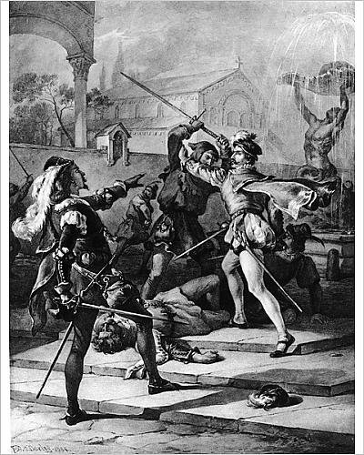 fight between capulets and montagues