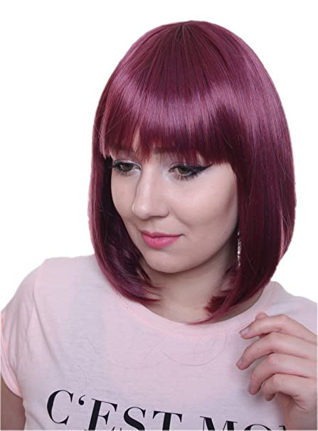 Prettyland C2436 - Smooth peluca Bob longitud media peinado de moda peluca de cabello natural -