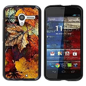 """Pulsar Snap-on Series Teléfono Carcasa Funda Case Caso para Motorola Moto X Motorola Moto X ( 1st Generation ) , Decay otoño en colores pastel amarillo"""""""