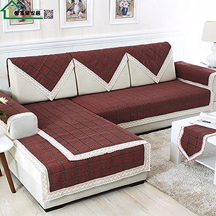 HL-Cotone Cuscino per divani di Tessuto di Cotone Asciugamano Divano ...