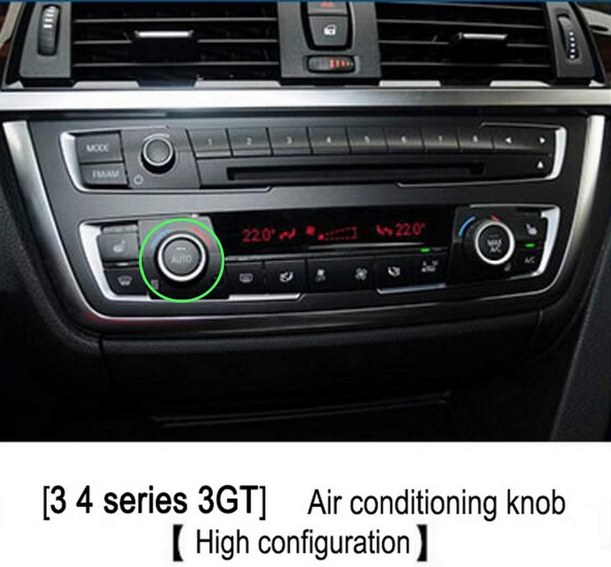 GOFORJUMP Blue Aluminum Car Air Conditioning Switch Control Knobs Trim Ring Cover Decoration Car-styling For B//MW 1//2//3//4 Series 3GT F20 F22 F30 F31 F32 F33 F80 F82 F87