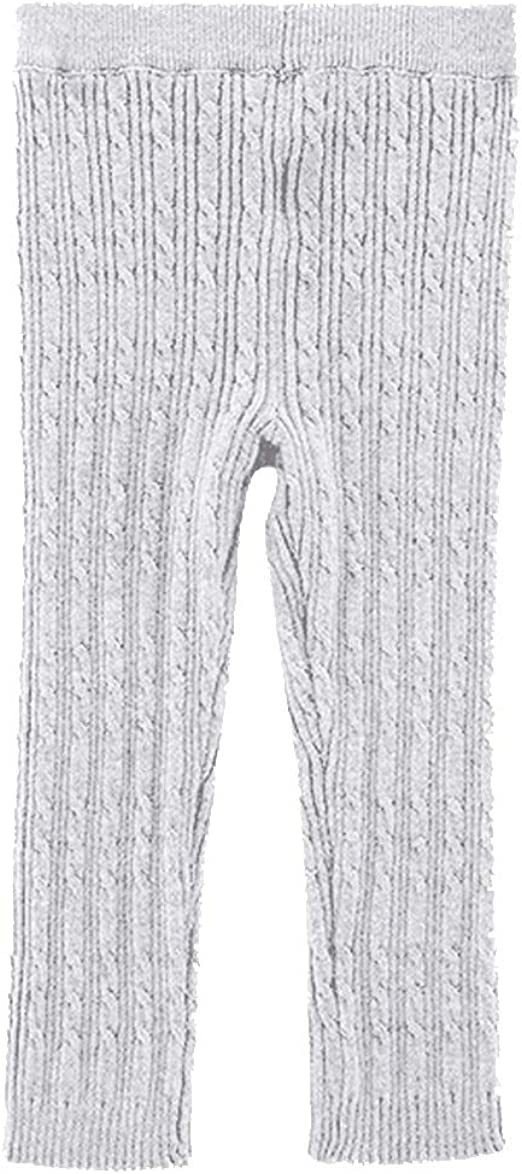 Cable Knit Leggings Baby Girl Ribbed Footless Tights Toddler Stocking