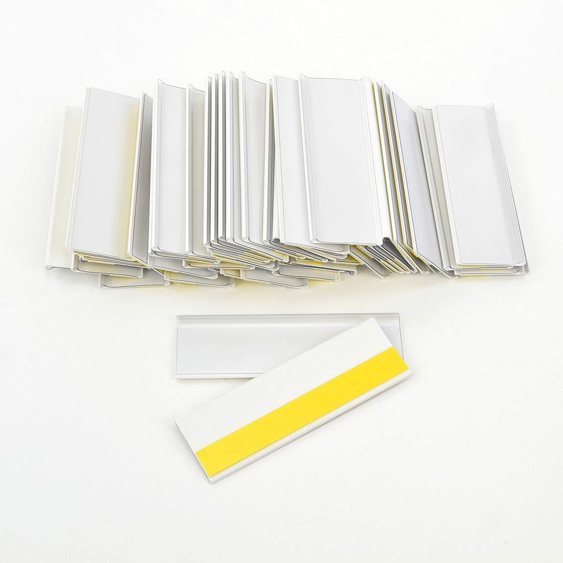 Selbstklebende Etikettenhalter f/ür Einstecketiketten 200 mm Breit//Tickethalter//Etiketten Halter 18 mm H/öhe, Transparent, 10 St/ück