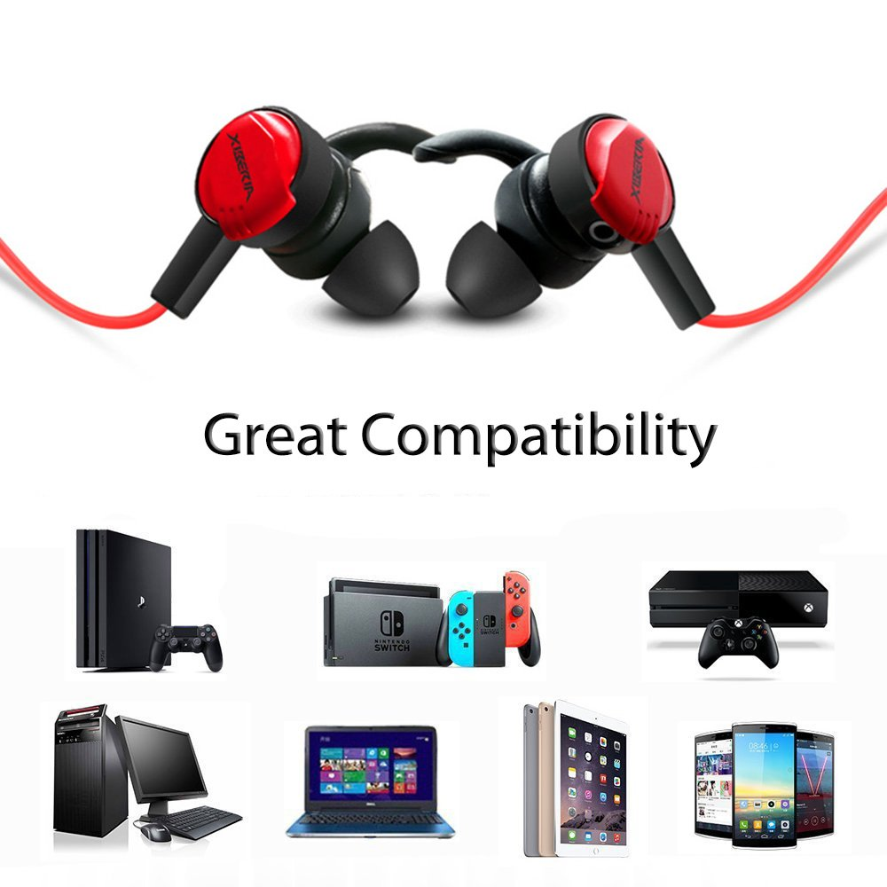 Amazon.com: Jeecoo Stereo Bass Gaming Earphones Wired Noise Cancelling Gaming Headphones with Adjustable Mic Work with Gaming Consoles, Smartphones PC, ...