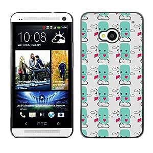 ZECASE Funda Carcasa Tapa Case Cover Para HTC One M7 No.0000644