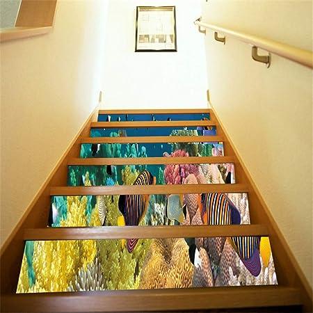 Pegatinas de escaleras Pegatinas para escaleras de animales de la parte inferior del mar Un juego