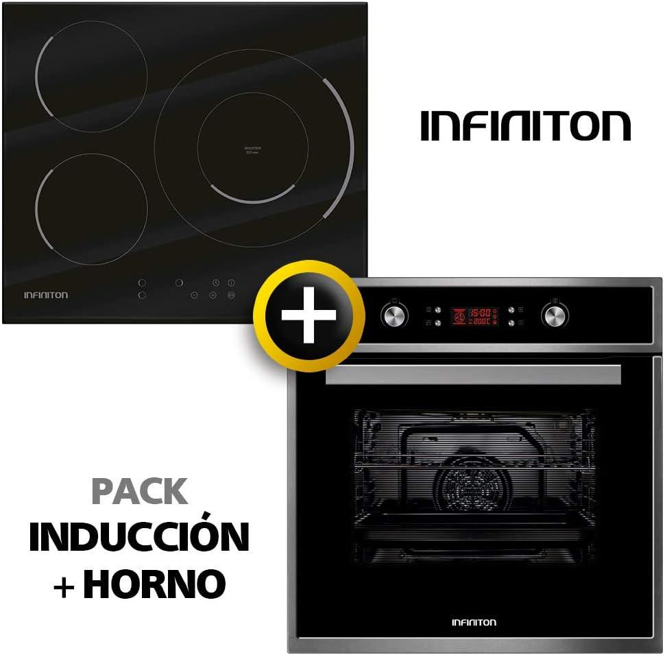 Pack Horno + INDUCCION INFINITON (Placa Encimera Induccion mas Horno multifuncion, Pack Ahorro) (INDUCCION + Horno)