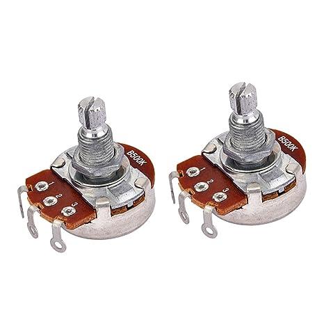 SM SunniMix Potenciómetro De Audio Para 2 Piezas, Potes Para Guitarras Eléctricas, Bajo,