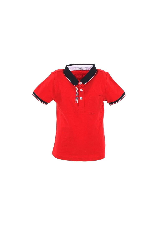 Y CLU Polo Bambino 6 Rosso Byb2546 Primavera Estate 2019