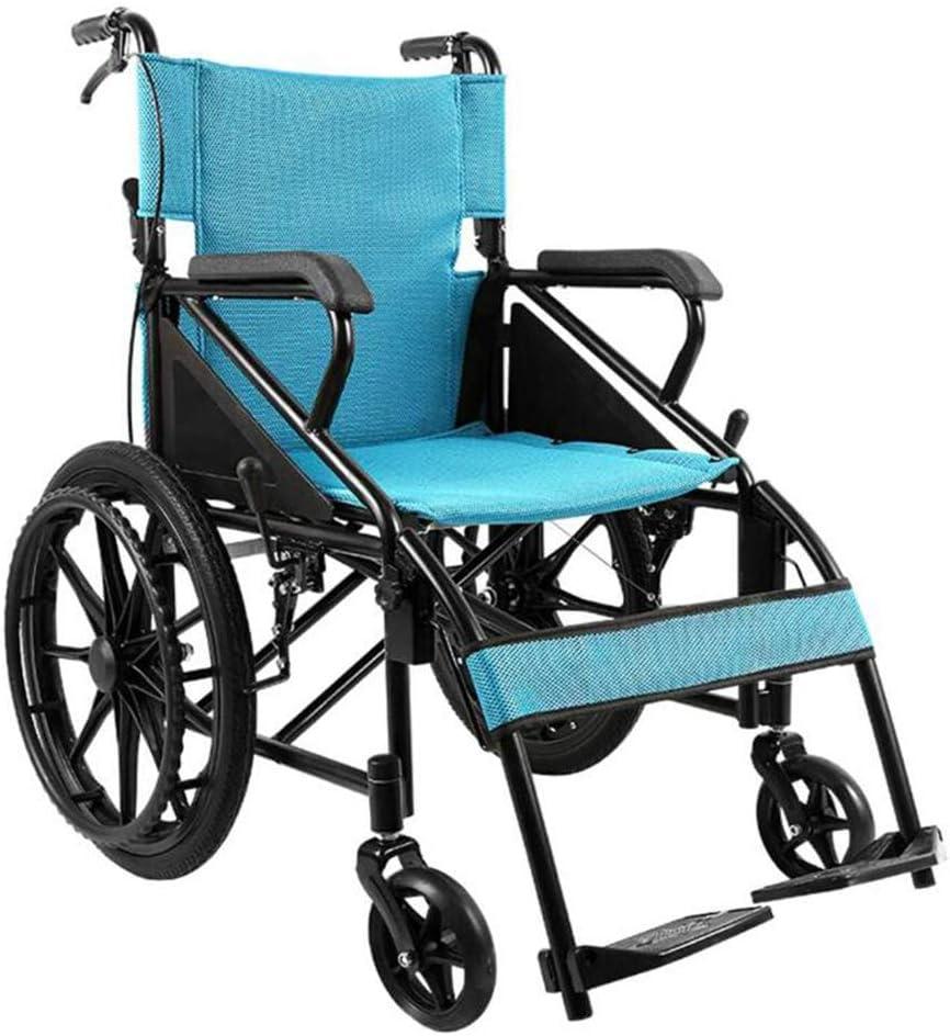 軽量輸送用車椅子人間工学に基づいた携帯用折りたたみ式車椅子フルレングスアームと昇降レッグレスト、高齢者、身体障害者、リハビリテーション患者の看護カート