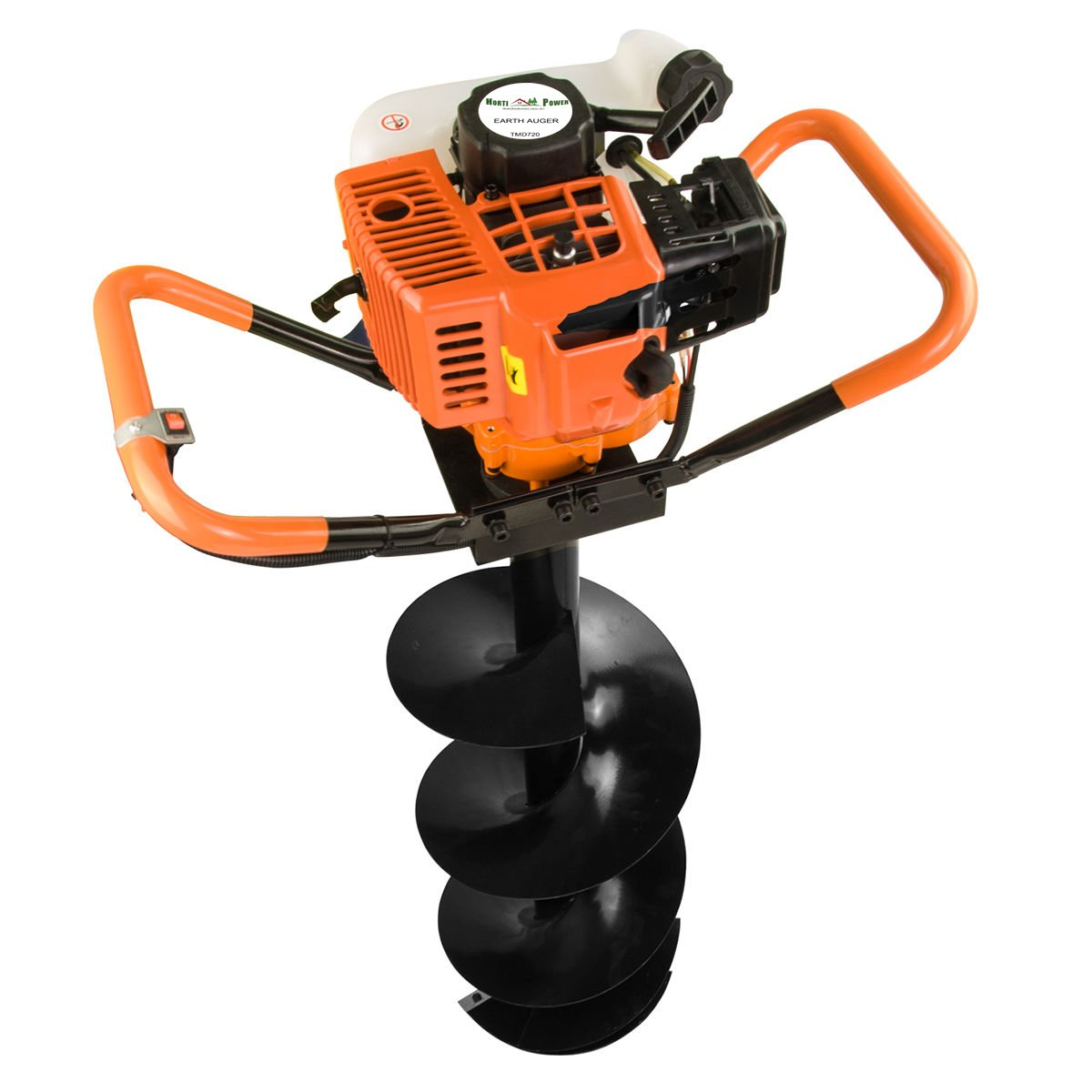 Earth Auger Post Pole Borer 82 CC 3 Drills Bits 100 200 300 4'' 8'' 12'' Ultrasharp with extensions Professional