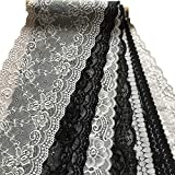 LaceRealm 7 Inch Assorted Black and White