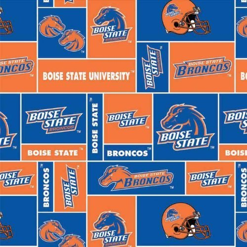 - College Boise State University Broncos Print Fleece Fabric By the Yard