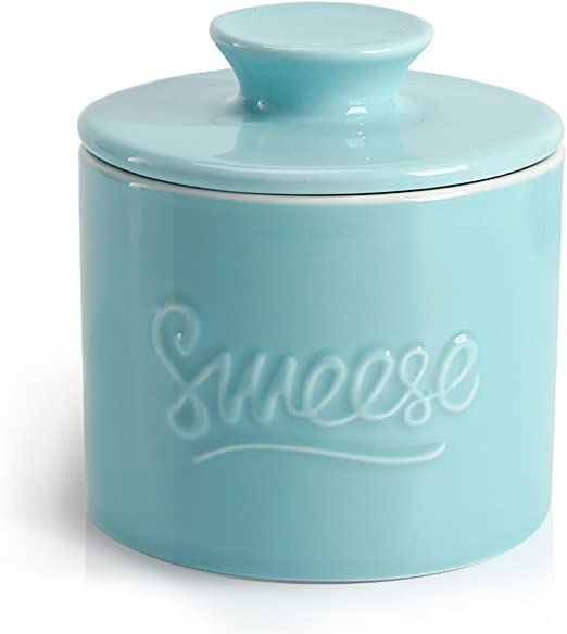 Sweese 3106 Porcelain Butter Keeper Crock No More Hard French Butter Dish