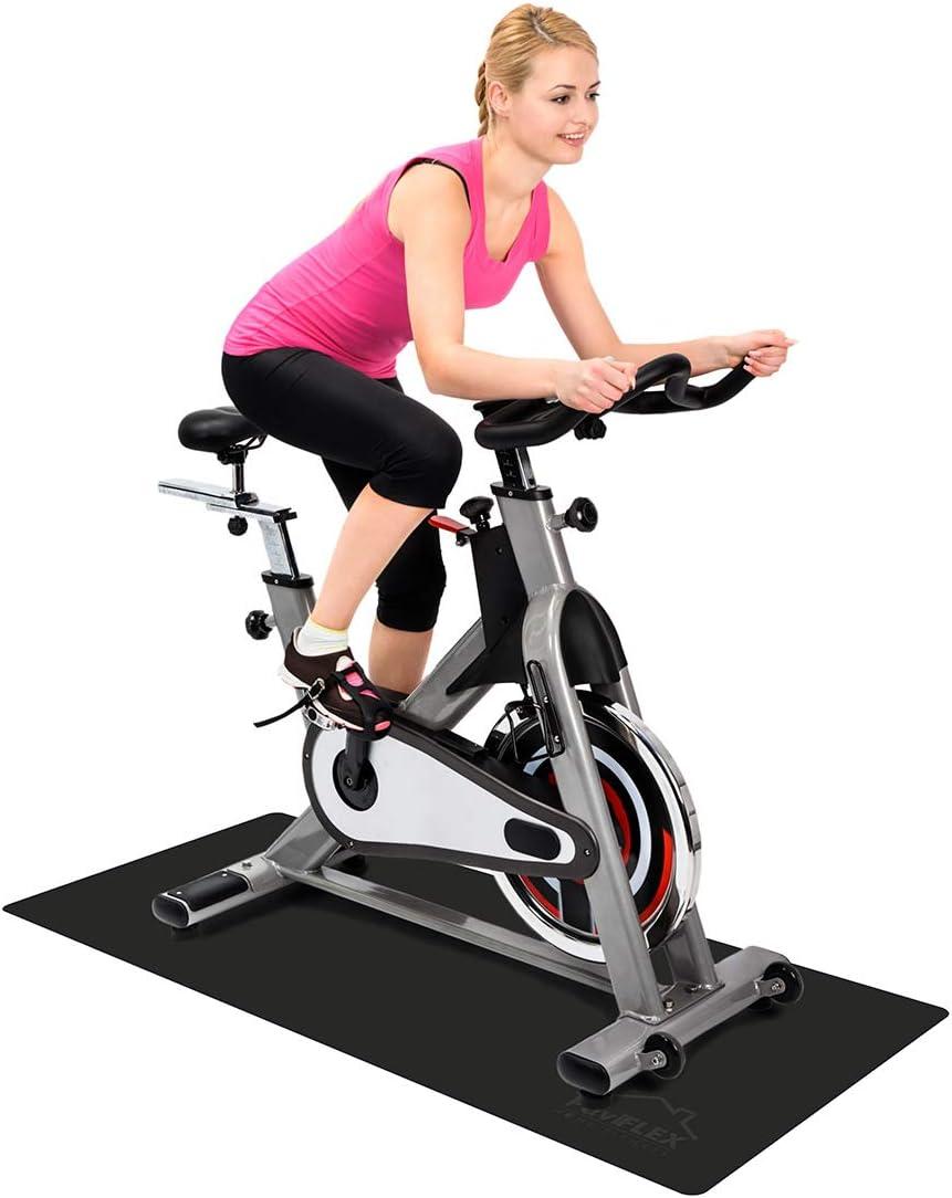 Ciclo Indoor Esterilla Ciclismo protecci/ón Suelo para Rodillos y Equipos Fitness en casa Bicicleta est/ática Cintas de Correr el/íptica Medida: 180x80 cm Bootymats Home Fitness