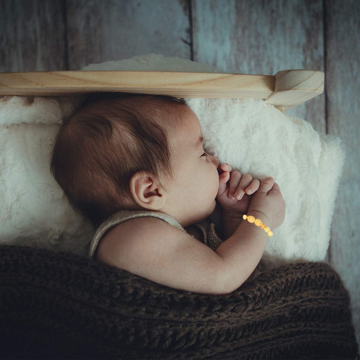 Holibanna Pulsera de /Ámbar para Beb/é Tobillera Pulsera de Dentici/ón de /Ámbar B/áltico Natural Reci/én Nacida para Dientes de Dolor de Muelas Regalos de Baby Shower para Beb/és Estilo 1