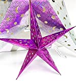 UNI Holographic Star - Highly-Detailed Decoration (18 INCH, Pink) - Choose your color and size