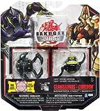Bakugan Gundalian Invaders New Super Assault 2 Pack (Black) Darkus CLAWSAURUS and COREDEM w DNA CODE (FACTORY SEALED)