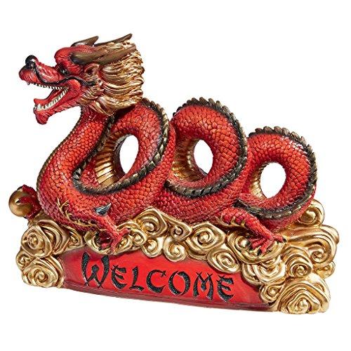 Cheap  Design Toscano Asian Zen Dragon Garden Welcome Statue
