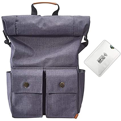 6f79906481d3 Amazon.com: Nordic Outfitters Rolltop Backpack with Anti RFID Card ...