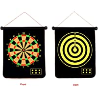 SLYK Magnetic Dart Board Set (17inch) Double Sided with 6 Needles