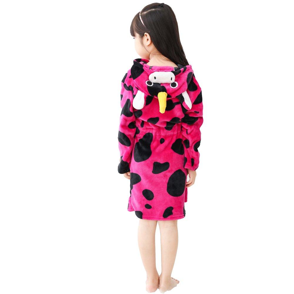 RGTOPONE Kids Soft Bathrobe Animal Fleece Sleepwear Comfortable Loungewear