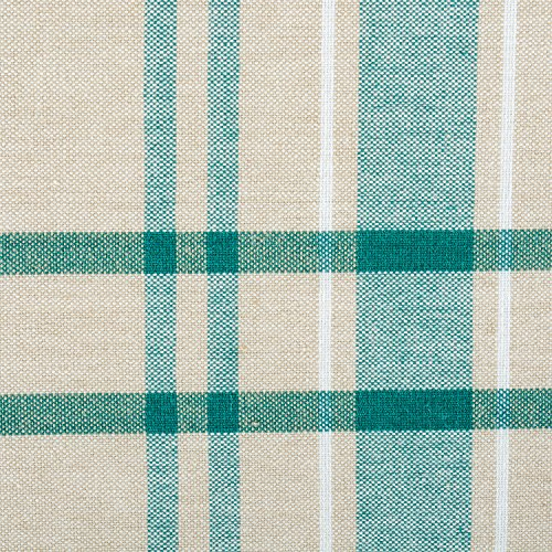 DII 100% Cotton, Machine Washable, Everyday French Stripe Kitchen Tablecloth for Dinner Parties, Summer & Outdoor Picnics - 60x84 Seats 6 to 8 People, Teal by DII (Image #1)