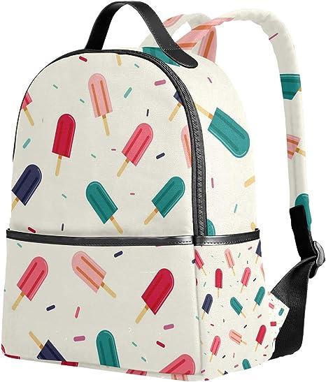 Lyetny Broken Bottle Pattern Bookbag School Bags Daily Backpacks Daypack for Students