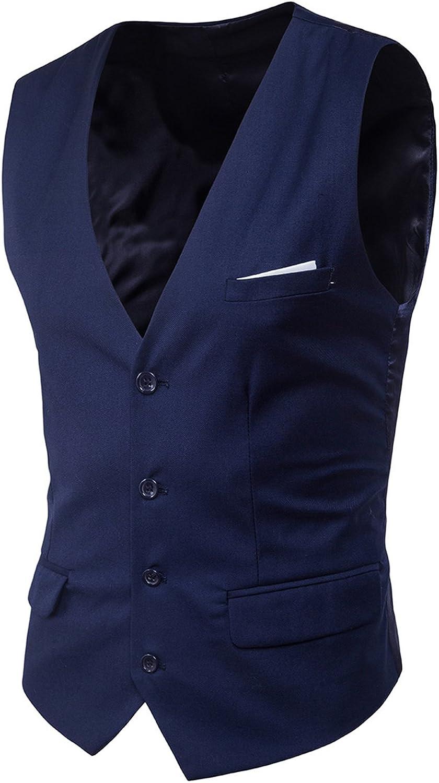 Boom Fashion Gilet panciotto uomo sartoriale elegante casual cerimonia Matrimonio Giacca Slim Fit