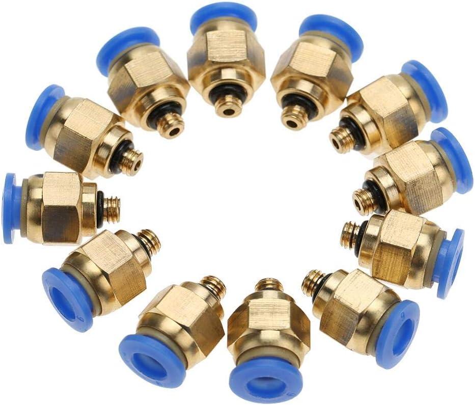 filettatura maschio M5 Heschen 10 pezzi Raccordi rapidi PC6-M5 6 mm connettore pneumatico per raccordi rapidi