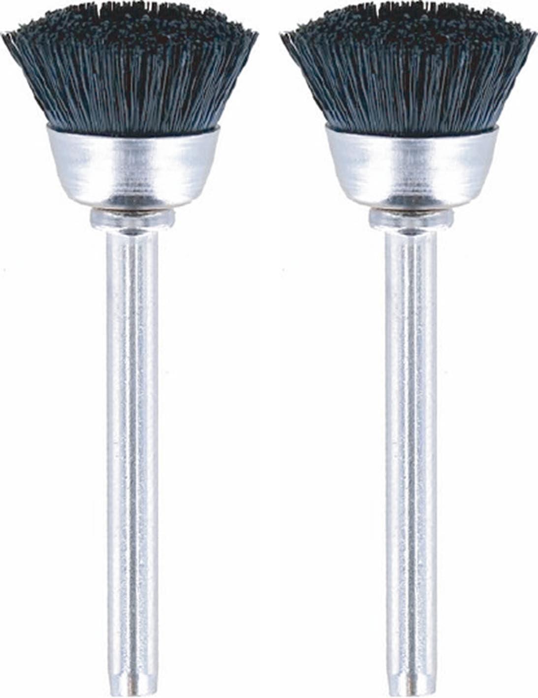 Dremel 404-02 Nylon Bristle Brushes (2 Pack), 1/2