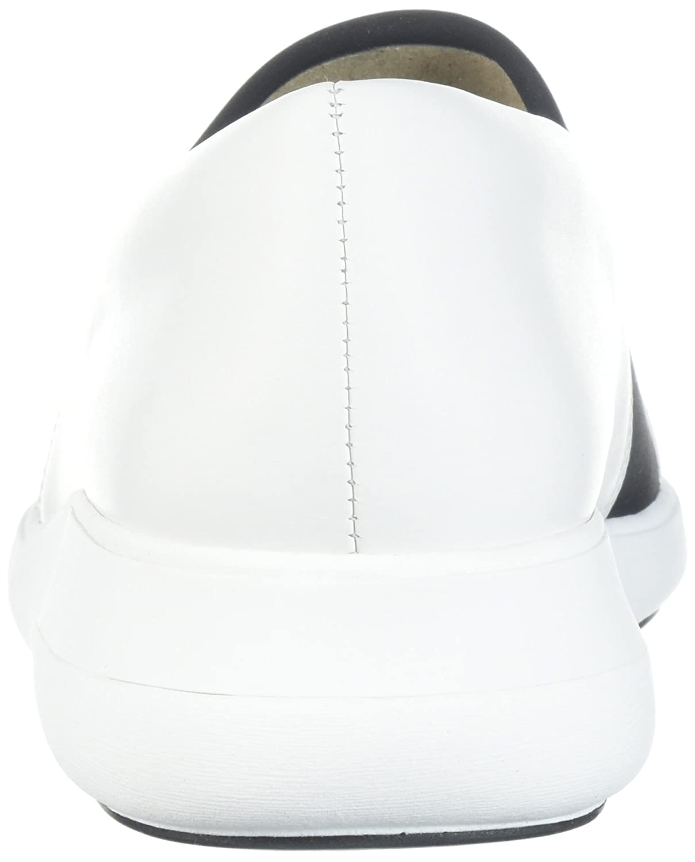 Via Spiga Women's Morgan Slip Sneaker B074CYWPFJ 7.5 B(M) US|White Leather/Black Neoprene