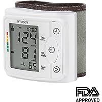 Blutdruckmessgerät Handgelenk, Hylogy Vollautomatische professionelle Blutdruk-und Pulsmessung mit 2*120 Speicherplätze, hoher Genauigkeitsmessung, LCD großem Display und Tagbare Aufbewahrungsbox