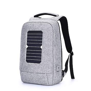 Amazon.com: EFGS - Mochila con cargador solar antirrobo ...