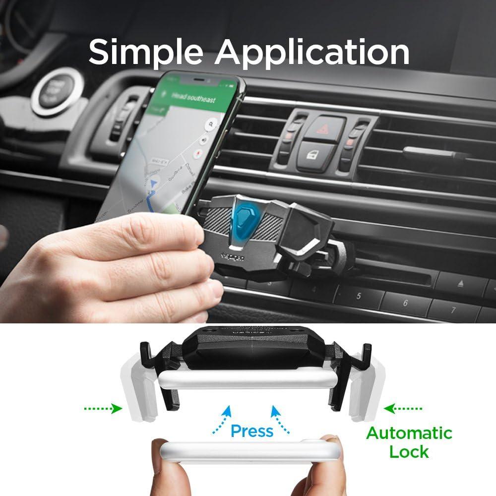 Spigen Kuel TMS24 One Tap CD Slot Car Phone Mount Holder Compatible with Most Smartphones