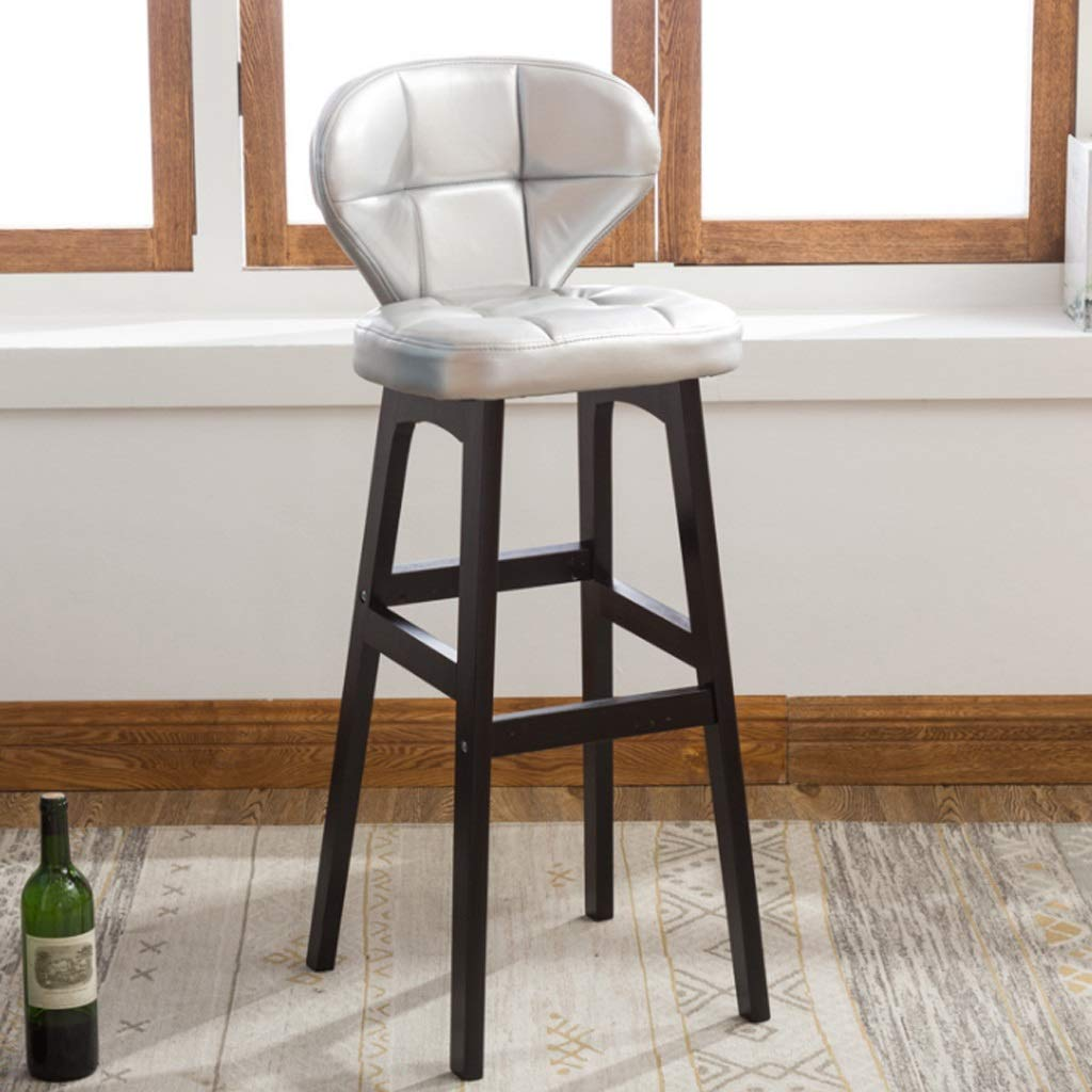 C Stool-Chair Bar Stools Bar Chairs Breakfast Dining Stools for Kitchen Island Counter Bar Stools Set of Leatherette Exterior (color   D)
