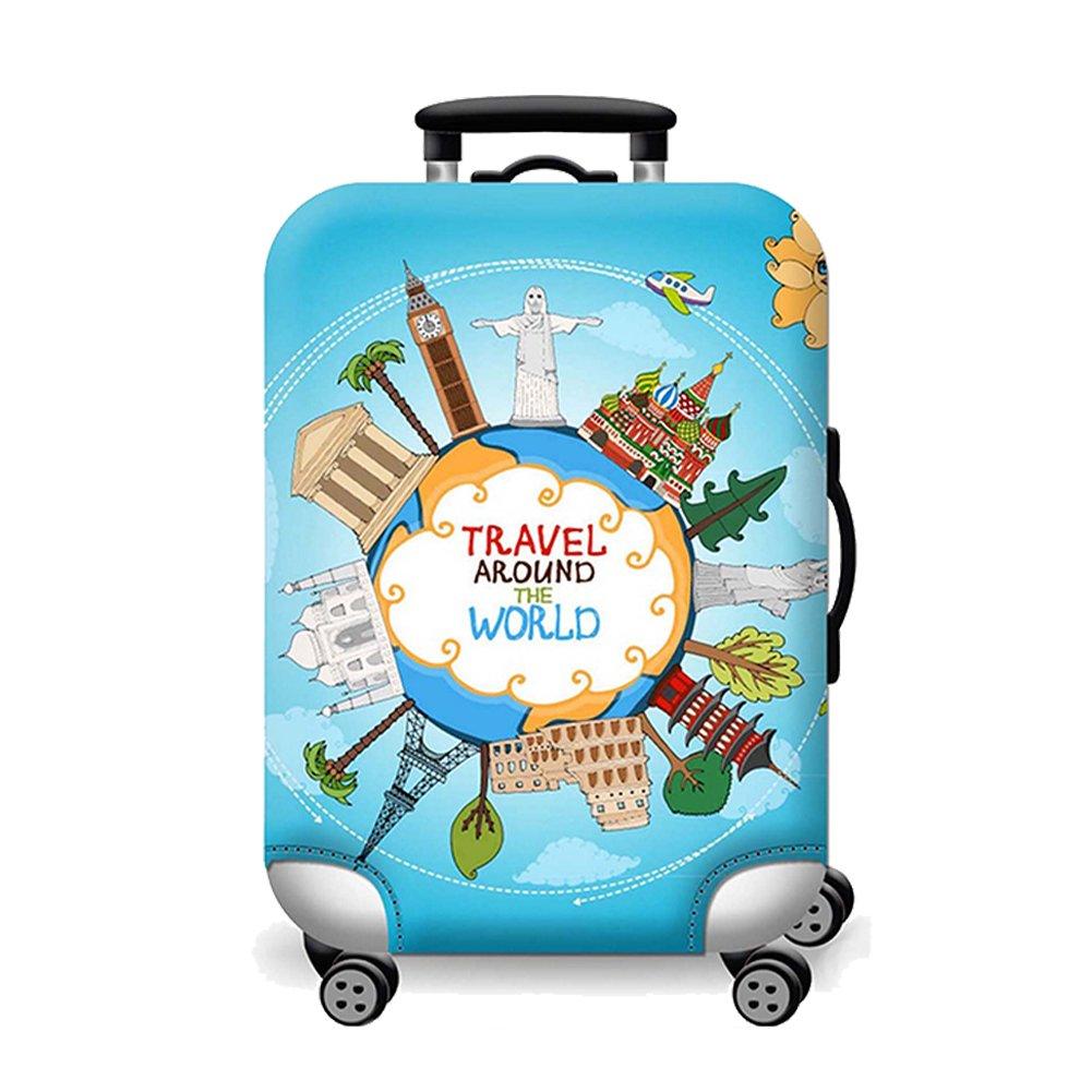 Artone Viajar Alrededor Del Mundo Protector De Equipaje Equipaje Funda De La